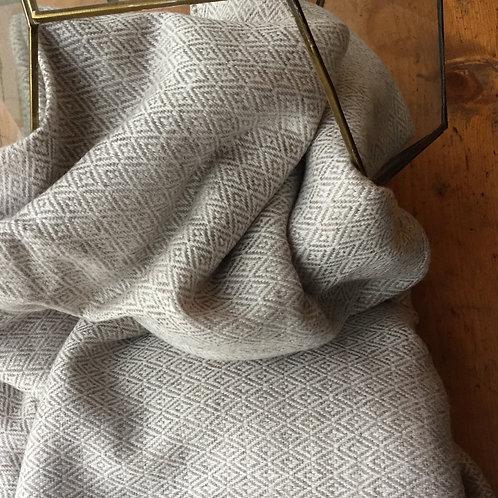 Gold diamond cashmere throw