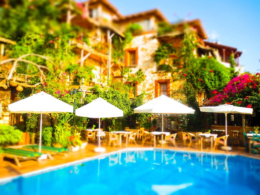 fidanka hotel pool kalkan