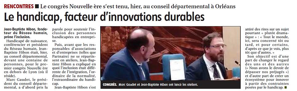 le handicap facteur d'innovations durabl