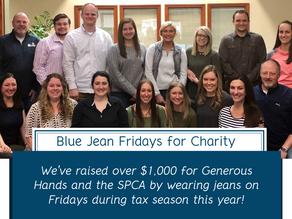 Blue Jean Fridays During Tax Season