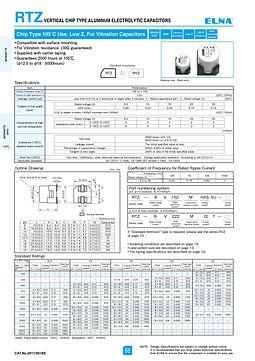 Elna RTZ Series Aluminum Electrolytic Capacitors