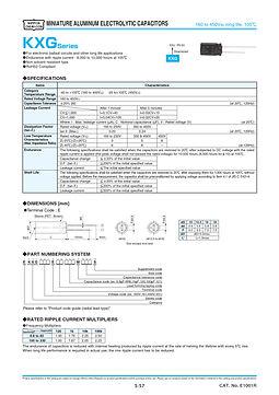Nippon Chemi Con KXG Series Aluminum Electrolytic Capacitors