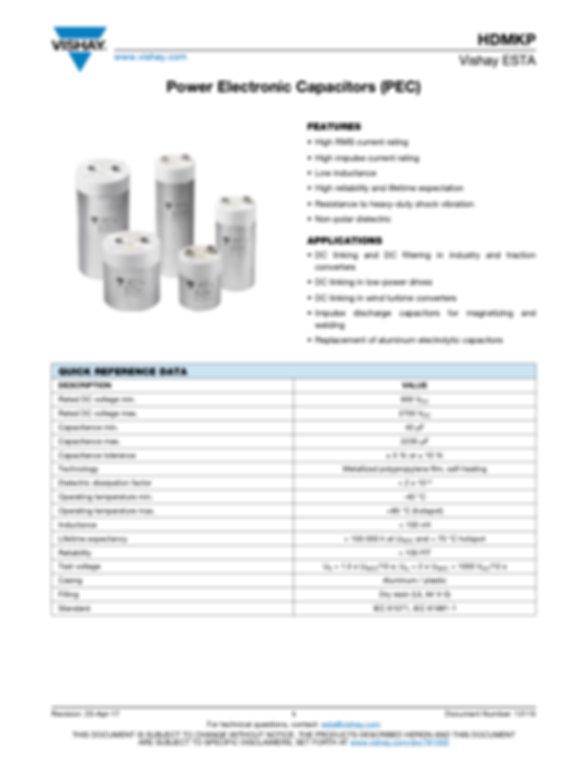 Vishay HDMKP Series Plastic Film Capacitors