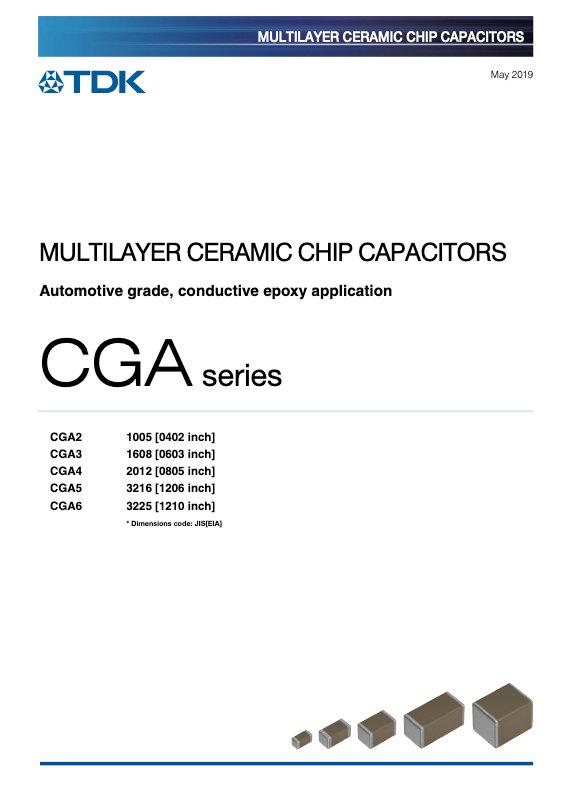 TDK CGA Series Conductive Epoxy MLC Chip Capacitors