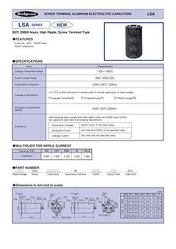 Rubycon LSA Series Screw Terminal Aluminum Electrolytic Capacitors