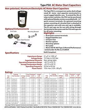 CDE Type PSU Aluminum Electrolytic Capacitors