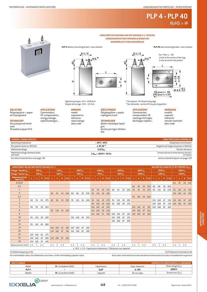 Exxelia PLP-4 Series Film Capacitors