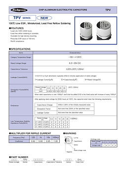 Rubycon TPV Series SMT Aluminum Electrolytic Capacitors