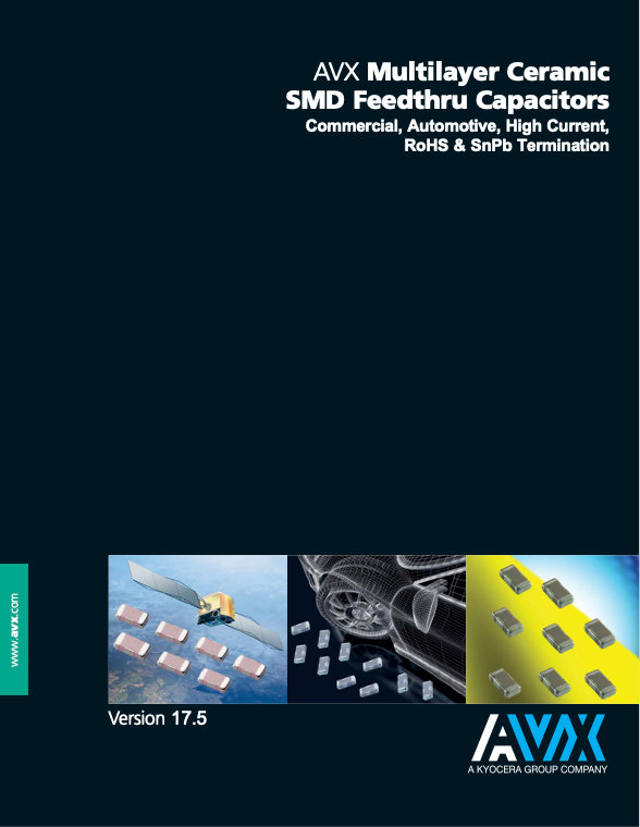 AVX W2F/W3F Series Feedthru MLC Capacitors