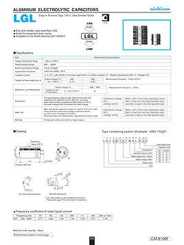 Nichicon LGL Series Aluminum Capacitors