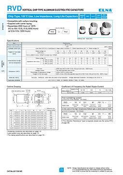 Elna RVD Series Aluminum Electrolytic Capacitors