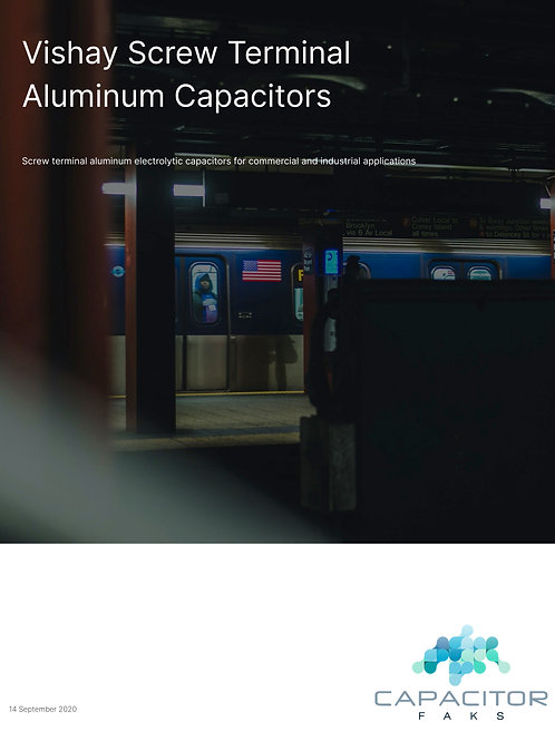 Vishay Screw Terminal Aluminum Capacitors