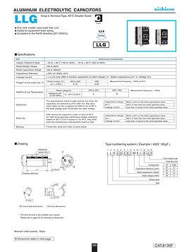 Nichicon LLG Series Aluminum Capacitors