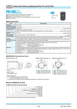 Nippon Chemi Con RHB Series Aluminum Electrolytic Capacitors