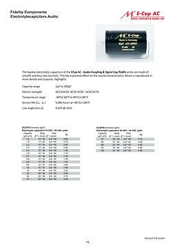 Mundorf Ecap PLAIN Series Aluminum Capacitors