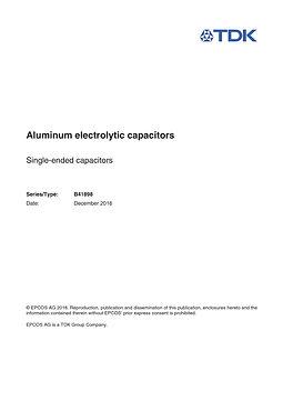 Epcos B41898 Series Aluminum Electrolytic Capacitors