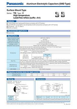 Panasonic TQ Series Aluminum Electrolytic Capacitors