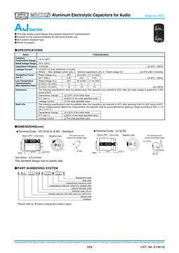 Nippon Chemi Con AJ Series Aluminum Capacitors