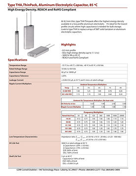 CDE Type THA Aluminum Electrolytic Capacitor