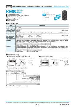 Nippon Chemi Con KMS Series Aluminum Electrolytic Capacitors