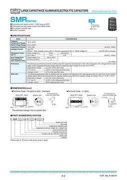Nippon Chemi Con SMR Series Aluminum Electrolytic Capacitors