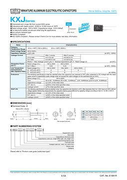 Nippon Chemi Con KXJ Series Aluminum Electrolytic Capacitors