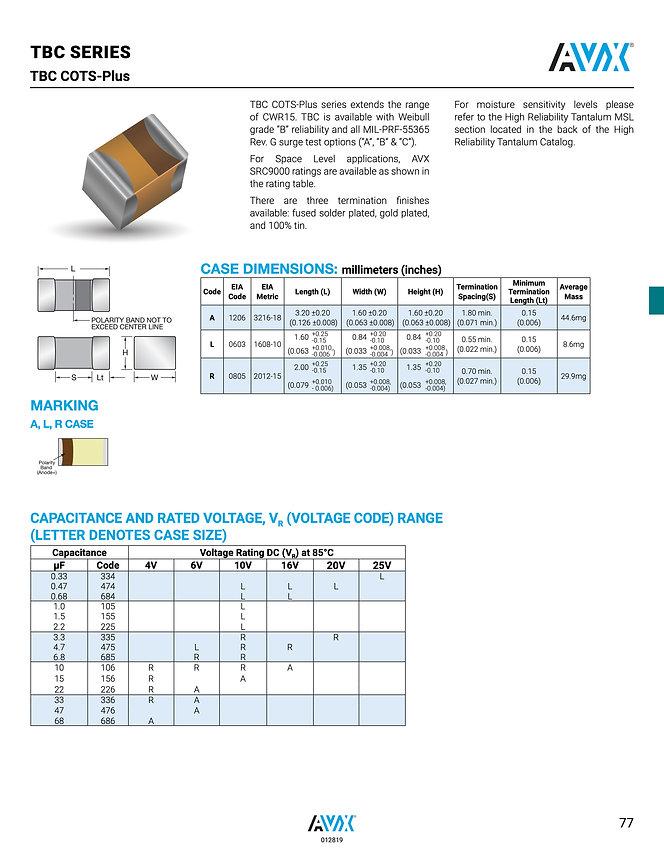 AVX TBC COTS Plus Series