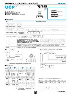Nichicon UCP Series Aluminum Capacitors