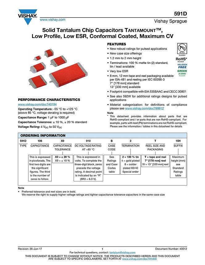 Vishay 591D Series Tantalum Capacitors