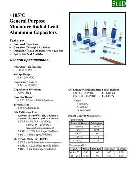 BMI 511D Series Aluminum Capacitors