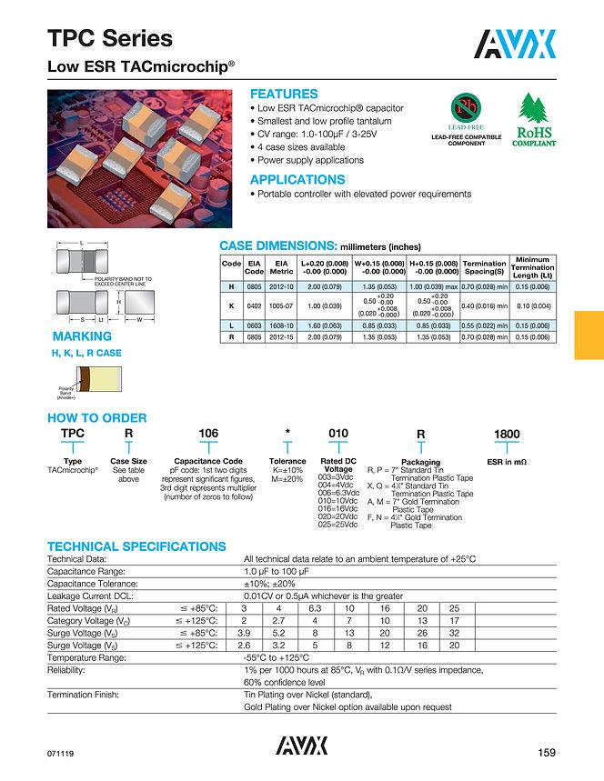AVX TPC Series