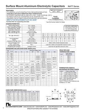 NIC Components NATT Series Aluminum Capacitors