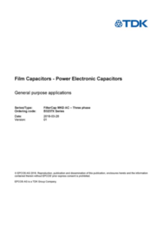 Epcos B3237x Series Plastic Film Capacitors