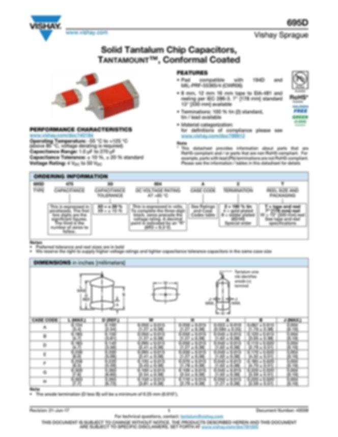 Vishay 695D Series Tantalum Capacitors