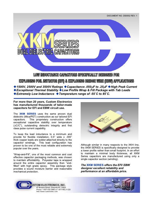 Custom Electronics XKM Series