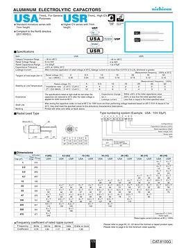 Nichicon USA/USR Series Aluminum Electrolytic Capacitors