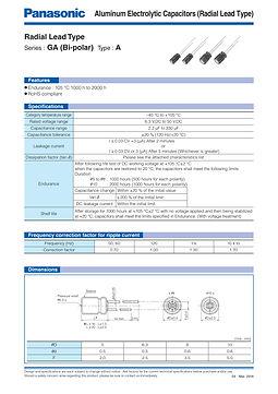 Panasonic GA Bi-polar Aluminum Capacitor