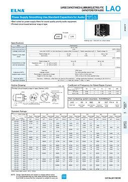 Elna LAO Series Aluminum Electrolytic Capacitors