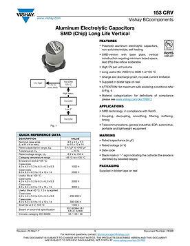 Vishay 153 CRV Series Aluminum Capacitors