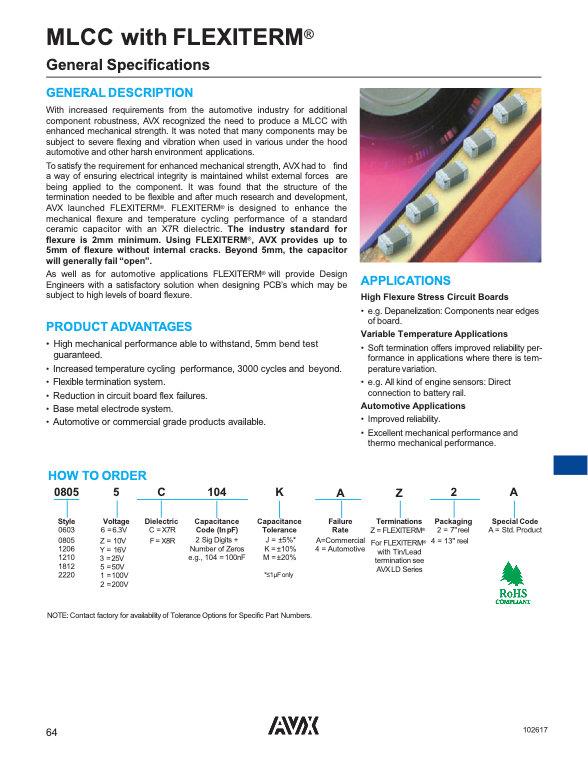 AVX Automotive Grade FLEXITERM® MLC Capacitors