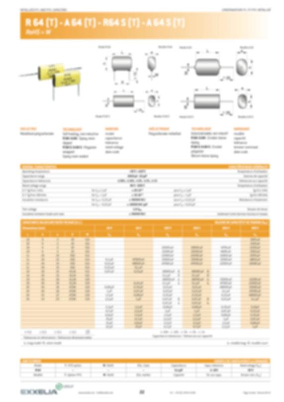 Exxelia R 64 (T) Series Film Capacitors