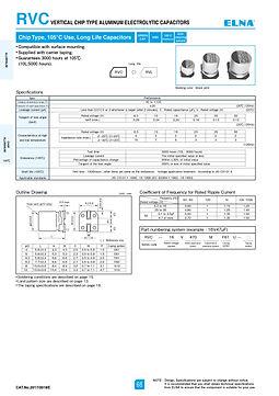 Elna RVC Series Aluminum Electrolytic Capacitors