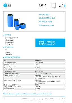 Fischer & Tausche SIG Series Aluminum Capacitors
