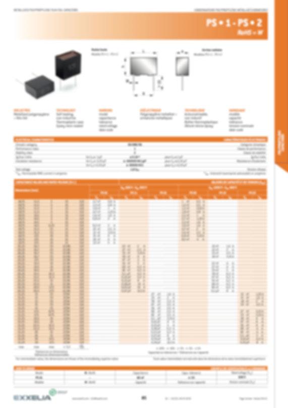 Exxelia PS * 1/2 Series Film Capacitors
