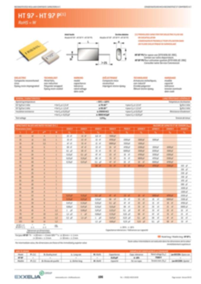 Exxelia HT 97 Series Film Capacitors