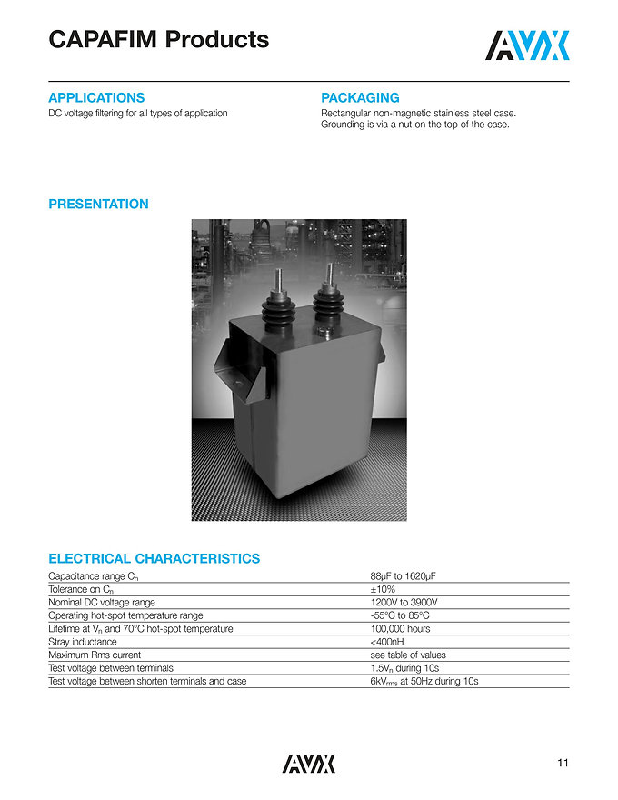 AVX CAPAFIM Series Film Capacitors