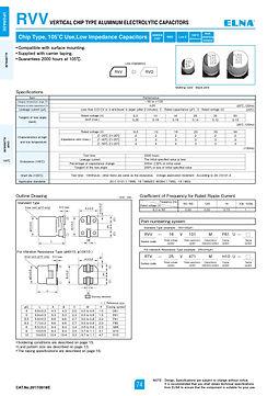 Elna RVV Series Aluminum Electrolytic Capacitors