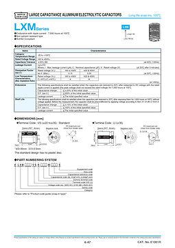 Nippon Chemi Con LXM Series Aluminum Electrolytic Capacitors