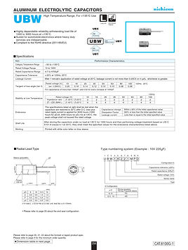 Nichicon UBW Series Aluminum Electrolytic Capacitors