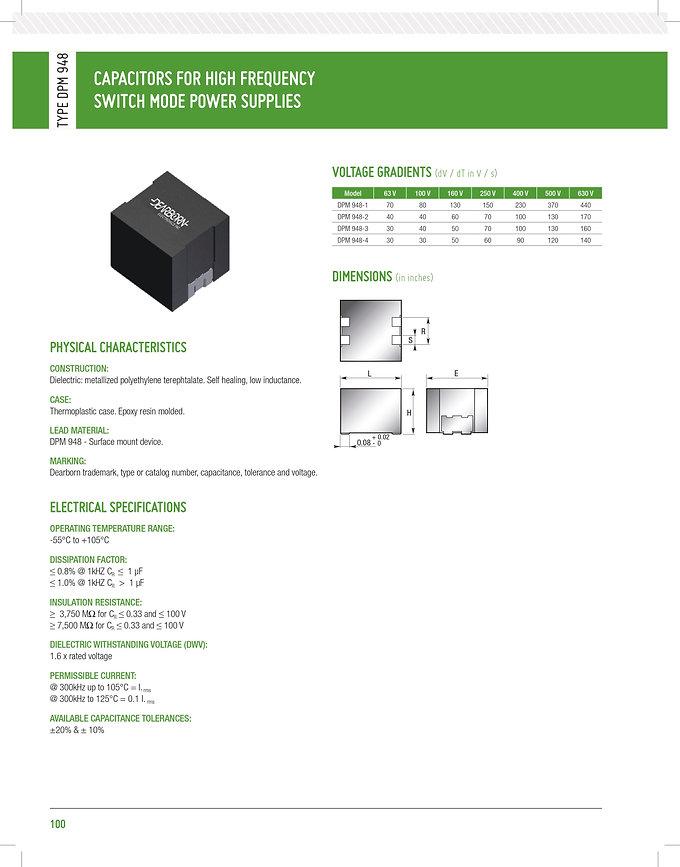 Dearborn DPM 948 Series Film Capacitors